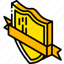 award, awards, iso, isometric, ribbon, shield