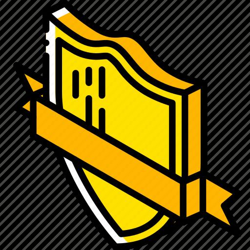 Award, awards, iso, isometric, ribbon, shield icon - Download on Iconfinder