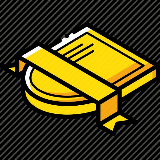 Award, isometric, ribbon, sheild icon - Download on Iconfinder