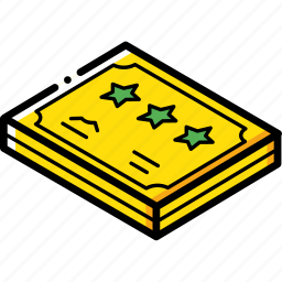 award, certificate, isometric icon