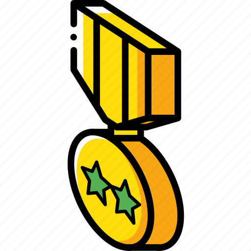 award, isometric, medal icon