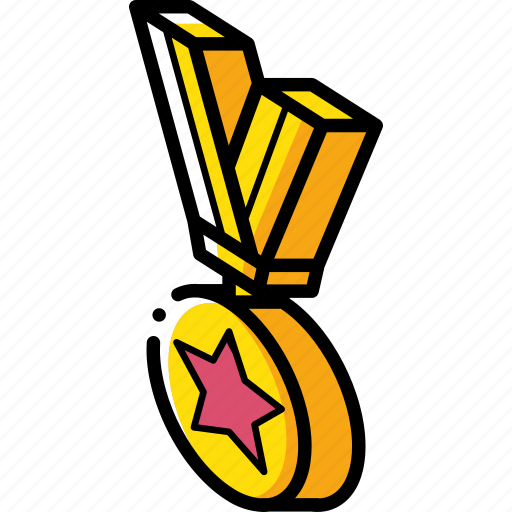 Award, isometric, medal icon - Download on Iconfinder
