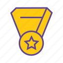 acheivement, award, member, ribbon, winner, winner badge icon