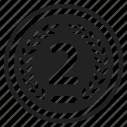achievement, award, badge, element, emblem, label, second icon