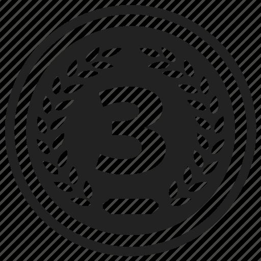 achievement, award, badge, element, emblem, label, third icon