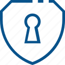 access, business, locked, shield icon