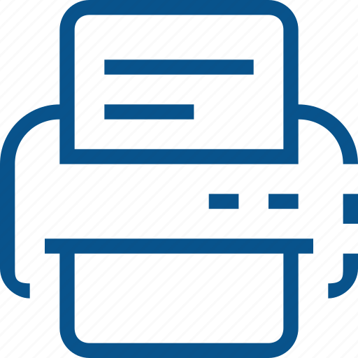 business, document, fax, print, printer icon