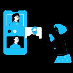 communication, smartphone, video, call, telephone, phone, conversation, zoom, meeting