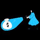 finance, search, find, sack, money, profit, award, reward, target