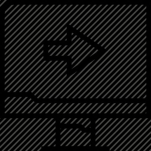 arrow, go, next, web icon