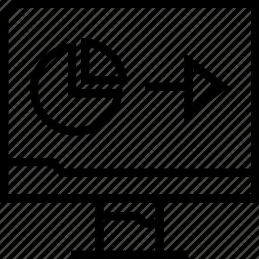 arrow, data, graphic, web icon