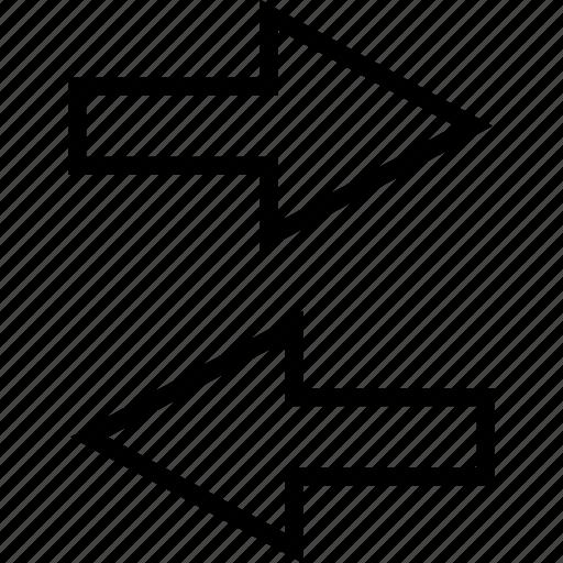 arrow, finance, left, right icon