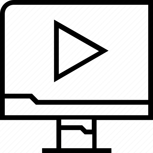 arrow, online, point, youtube icon