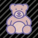 toy, teddy, bear, animal, gift