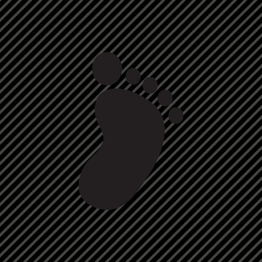 baby, child, foot, footprint, human, print icon