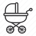 baby, carriage, kid, newborn, pram, pushchair icon