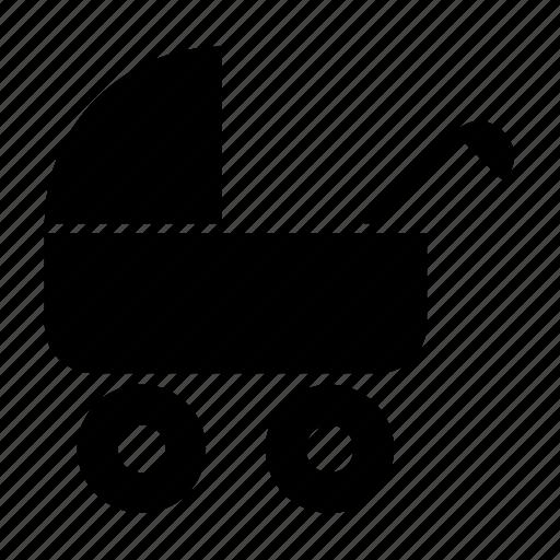 baby, buggy, carriage, perambulator, pram, pushchair, stroller icon
