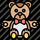 animal, bear, doll, stuffed, toy icon