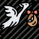 baby, bird, bring, newborn, stork icon