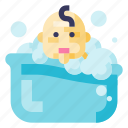 child, bath, shower, kid, bathroom, baby, boy