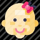 avatar, baby, emoji, emoticon, emotion, face, girl