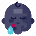 baby, boy, emoji, face, sleeping, male, sad