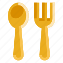 and, cook, food, fork, kitchen, spoon, restaurant icon
