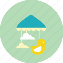 crib, infant, mobile, toddler, toy icon
