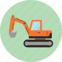 bulldozer, construction, excavator, heavy, machinery, toy, transportation icon