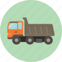 car, dump truck, toy, transportation, truck icon