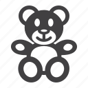 animal, baby, bear, happy, plush, teddy, toy icon