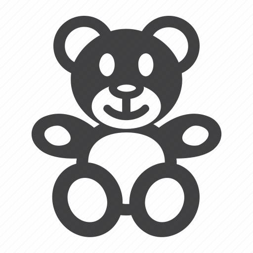 Animal, baby, bear, happy, plush, teddy, toy icon - Download on Iconfinder