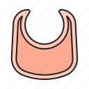 baby, bib, child, chinstrap, curbbelt, feed icon