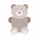 baby, bear, child, newborn, play, teddy bear, toy icon