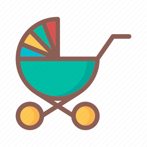 baby, child, game, kid, stroller, toy icon