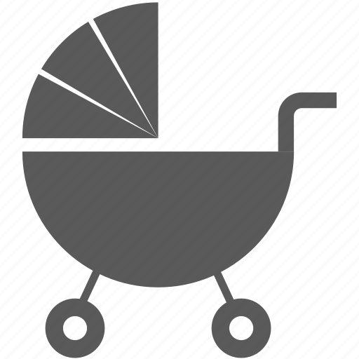 baby carriage, carriage, child, stroller icon