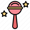 baby, rattle, sound, toy icon