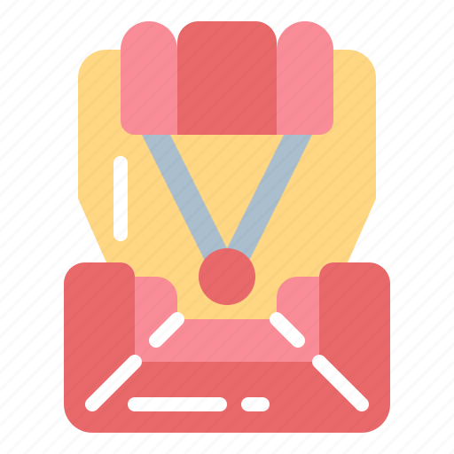 belt, car, chair, safety, seat, security icon