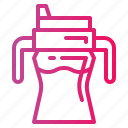 bottle, cup, feeder, water icon