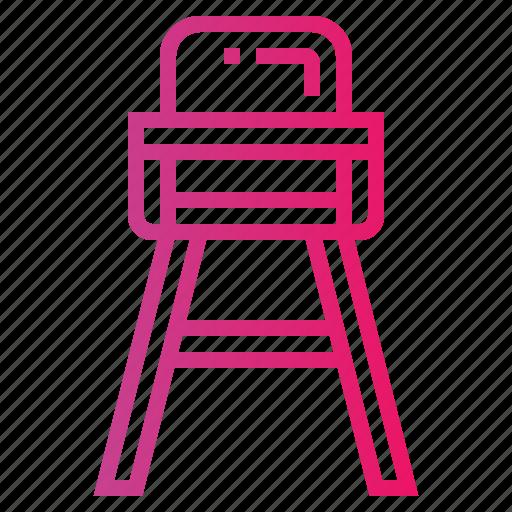 Baby Chair Feeding Furniture High Icon