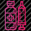 baby, medicine, syringe, water icon