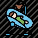 baby, bouncing, cradle, infant, sleeping icon