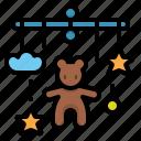 baby, crib, decor, hanging, infant, mobile, nursery