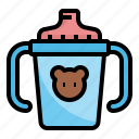 baby, cup, drink, sippy, water icon
