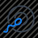 spermatozoid, sperm, ovum, fertilization icon