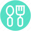 baby, feed, fork, kids, spoon, spoon and fork, toy icon
