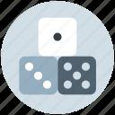 baby, dice, gamble, gambling, game, kids, toy icon