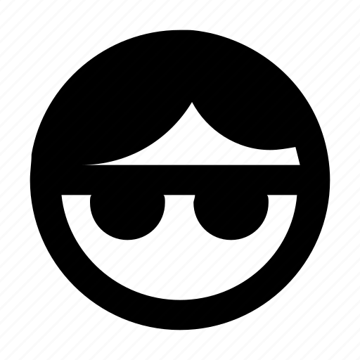 cool smiley, emoticon, face, smiley, sunglasses icon