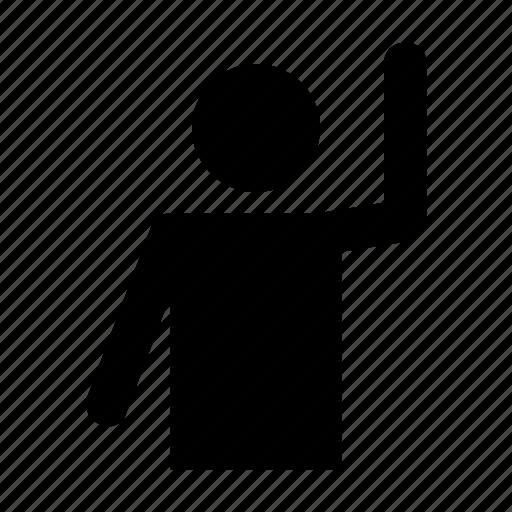 avatar, exercising, handsup, human, man icon