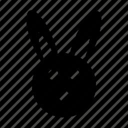 animal, bunny, cartoon rabbit, hare, rabbit face icon